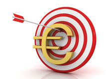 Dart of success with Euro Royalty Free Stock Images