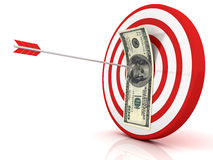 Dart of success with money Stock Photo