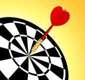 Dart target. Illustration, Ai file included Royalty Free Stock Photography