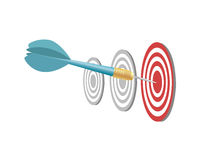 Dart and target Stock Images