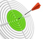 Dart and target Stock Photography