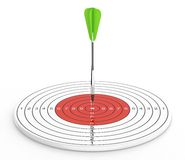 Dart and target Royalty Free Stock Images