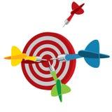 Dart on target Stock Image