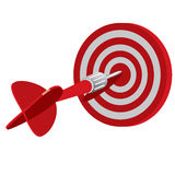 Dart on target Royalty Free Stock Image