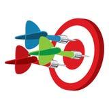 Dart on target vector illustration