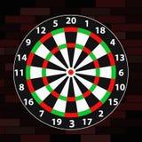 Dart Target. Illustration of a dart target Royalty Free Stock Image