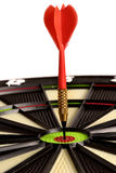 Dart on target Royalty Free Stock Photo