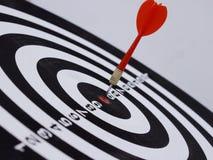 Dart target aim Stock Photos