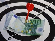Dart target aim Stock Images