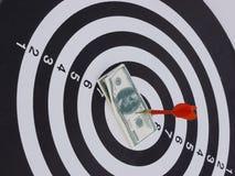 Dart target aim Stock Photography