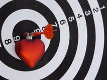 Dart target aim Royalty Free Stock Photos