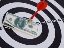 Dart target aim Stock Photo