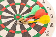 Dart target with arrows Stock Images