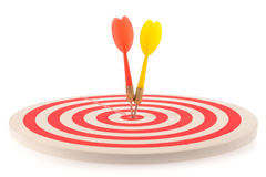 Dart target with arrows Stock Photo