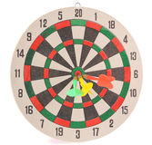 Dart target with arrows Royalty Free Stock Photo