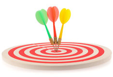 Dart target with arrows Royalty Free Stock Image