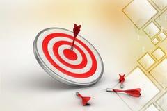 Dart Target arrows, Success Business Concept Royalty Free Stock Photos