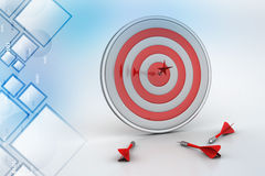 Dart Target arrows, Success Business Concept Royalty Free Stock Photo