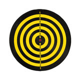 Dart target board, abstract of success on white background. Stock Photo