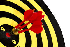 Dart target board, abstract of success on white background. Royalty Free Stock Photos