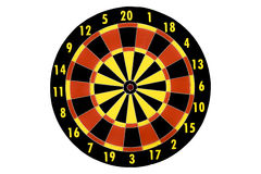 Dart target board, abstract of success on white background. Stock Image