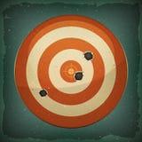 Dart Target With Bullets Shot Royalty Free Stock Photos