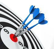 Dart on Target Close-up Royalty Free Stock Image
