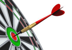 Dart on Target Close-up Royalty Free Stock Photos