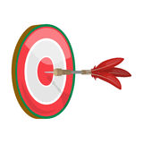 Dart and a target for darts. The game of darts single icon in cartoon style vector symbol stock illustration web. Stock Photos