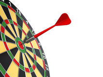 Dart on target Stock Images