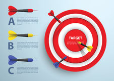 Dart and target infographic template, Business concept vector illustration