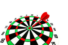 Dart target with red arrows Stock Photo