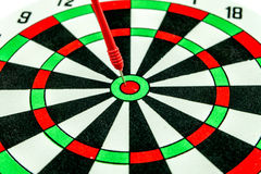 Dart target with red arrows Royalty Free Stock Image