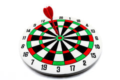 Dart target with red arrows Royalty Free Stock Photos