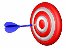 Dart target shooting Royalty Free Stock Image