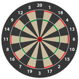 Dart target. Simple dart target illustration with numbers and background Stock Photos
