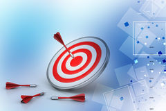 Dart Target Success Business Concept. In color background Stock Photography