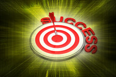 Dart Target Success Business Concept. In color background Stock Photos
