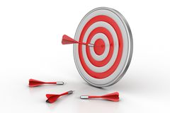Dart Target Success Business Concept. In white background vector illustration