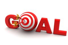 Dart Target Success Business Concept. In white background Royalty Free Stock Image