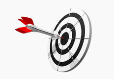 Dart on target. White background Stock Images