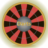 Dart Target. On white background Royalty Free Stock Photography