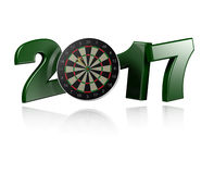 Dart Target 2017 with a white Background. Dart Target 2017 design with a white Background Royalty Free Stock Photography