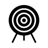 Dart icon. Dart thin line icon stock illustration