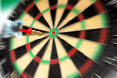 Dart throw Royalty Free Stock Photo