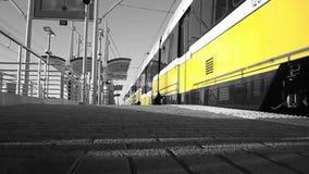 Dart Train In Black And White Accent In Dallas, Texas. stock video