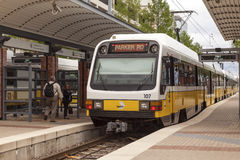 DART Train at the in Dallas Royalty Free Stock Photo