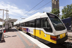 DART Train at the Union Station in Dallas Royalty Free Stock Image