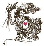 dArtagnan. Amante y un mosquetero ilustración del vector