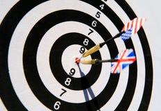 dartboard βέλη δύο Στοκ Εικόνα